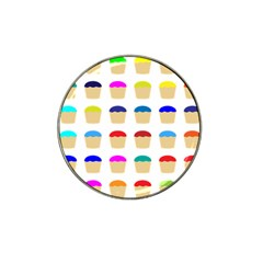 Colorful Cupcakes Pattern Hat Clip Ball Marker