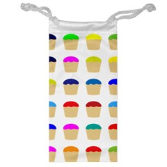Colorful Cupcakes Pattern Jewelry Bag