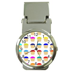 Colorful Cupcakes Pattern Money Clip Watches