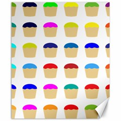 Colorful Cupcakes Pattern Canvas 8  X 10