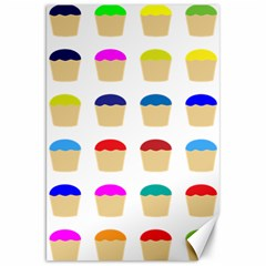 Colorful Cupcakes Pattern Canvas 20  X 30