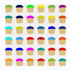 Colorful Cupcakes Pattern Medium Glasses Cloth