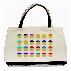 Colorful Cupcakes Pattern Basic Tote Bag (Two Sides)
