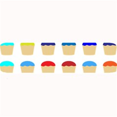 Colorful Cupcakes Pattern Large Bar Mats