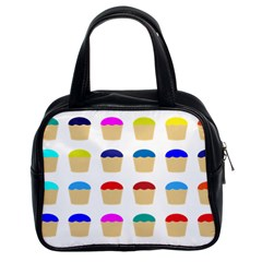 Colorful Cupcakes Pattern Classic Handbags (2 Sides)