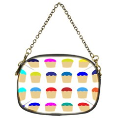 Colorful Cupcakes Pattern Chain Purses (one Side)