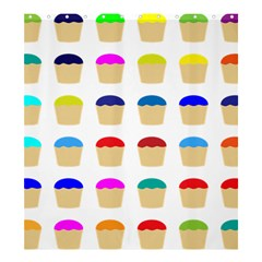 Colorful Cupcakes Pattern Shower Curtain 66  X 72  (large)