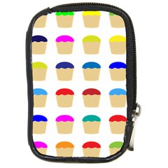 Colorful Cupcakes Pattern Compact Camera Cases