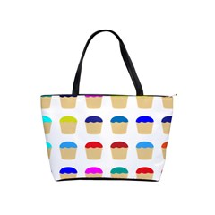 Colorful Cupcakes Pattern Shoulder Handbags
