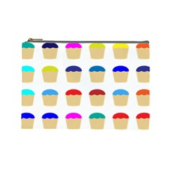 Colorful Cupcakes Pattern Cosmetic Bag (large)