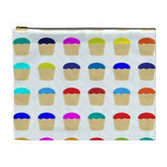Colorful Cupcakes Pattern Cosmetic Bag (xl)