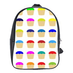 Colorful Cupcakes Pattern School Bags(Large)