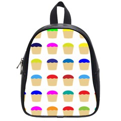 Colorful Cupcakes Pattern School Bags (Small)