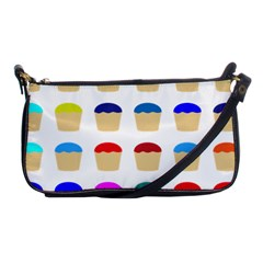 Colorful Cupcakes Pattern Shoulder Clutch Bags