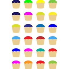 Colorful Cupcakes Pattern 5 5  X 8 5  Notebooks