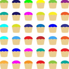 Colorful Cupcakes Pattern Magic Photo Cubes