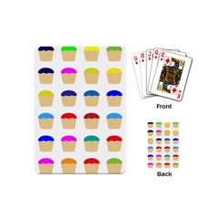 Colorful Cupcakes Pattern Playing Cards (mini)