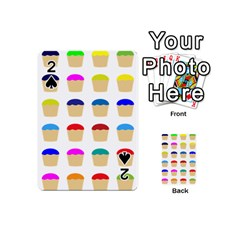 Colorful Cupcakes Pattern Playing Cards 54 (Mini)