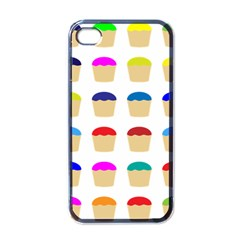 Colorful Cupcakes Pattern Apple Iphone 4 Case (black)