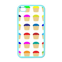 Colorful Cupcakes Pattern Apple iPhone 4 Case (Color)