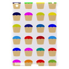 Colorful Cupcakes Pattern Apple iPad 3/4 Hardshell Case (Compatible with Smart Cover)