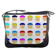 Colorful Cupcakes Pattern Messenger Bags