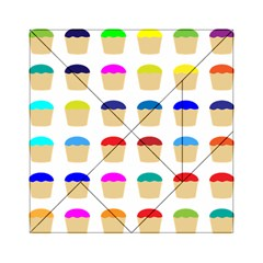 Colorful Cupcakes Pattern Acrylic Tangram Puzzle (6  X 6 )