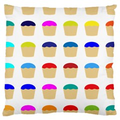Colorful Cupcakes Pattern Large Cushion Case (two Sides)