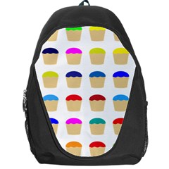 Colorful Cupcakes Pattern Backpack Bag