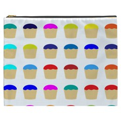 Colorful Cupcakes Pattern Cosmetic Bag (XXXL)