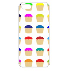 Colorful Cupcakes Pattern Apple Iphone 5 Seamless Case (white)