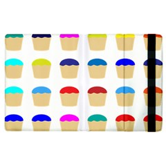 Colorful Cupcakes Pattern Apple iPad 2 Flip Case