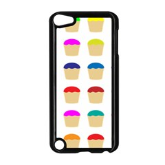 Colorful Cupcakes Pattern Apple iPod Touch 5 Case (Black)