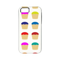Colorful Cupcakes Pattern Apple Iphone 5 Classic Hardshell Case (pc+silicone)