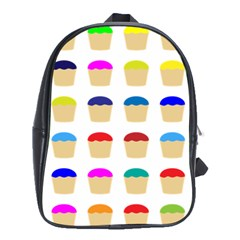Colorful Cupcakes Pattern School Bags (xl)