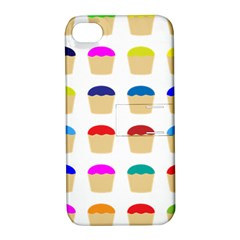 Colorful Cupcakes Pattern Apple Iphone 4/4s Hardshell Case With Stand