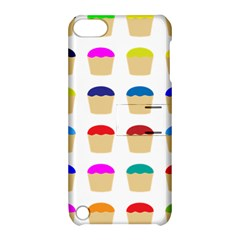 Colorful Cupcakes Pattern Apple Ipod Touch 5 Hardshell Case With Stand