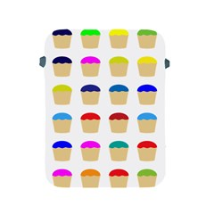 Colorful Cupcakes Pattern Apple Ipad 2/3/4 Protective Soft Cases