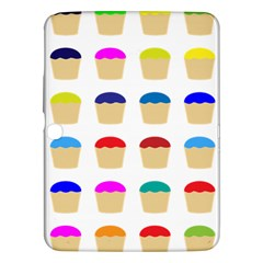 Colorful Cupcakes Pattern Samsung Galaxy Tab 3 (10 1 ) P5200 Hardshell Case