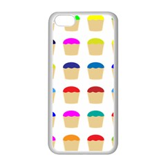 Colorful Cupcakes Pattern Apple Iphone 5c Seamless Case (white)