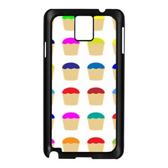 Colorful Cupcakes Pattern Samsung Galaxy Note 3 N9005 Case (black)