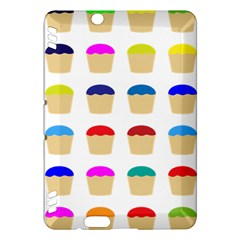 Colorful Cupcakes Pattern Kindle Fire HDX Hardshell Case