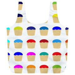 Colorful Cupcakes Pattern Full Print Recycle Bags (l)