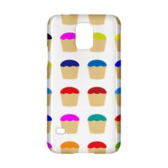 Colorful Cupcakes Pattern Samsung Galaxy S5 Hardshell Case