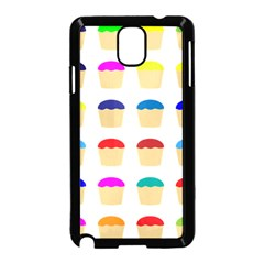 Colorful Cupcakes Pattern Samsung Galaxy Note 3 Neo Hardshell Case (black)