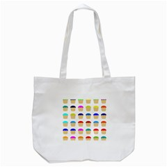 Colorful Cupcakes Pattern Tote Bag (White)