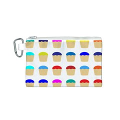 Colorful Cupcakes Pattern Canvas Cosmetic Bag (S)