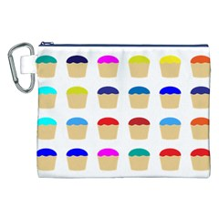 Colorful Cupcakes Pattern Canvas Cosmetic Bag (xxl)