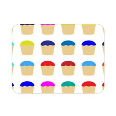 Colorful Cupcakes Pattern Double Sided Flano Blanket (mini)