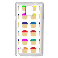 Colorful Cupcakes Pattern Samsung Galaxy Note 4 Case (white)